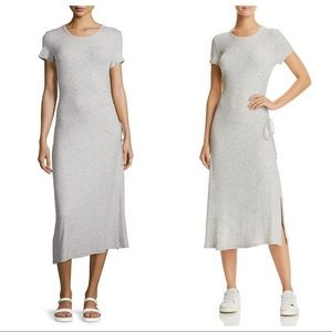 Theory Jilaena Short-Sleeve T-Shirt Dress Sz L